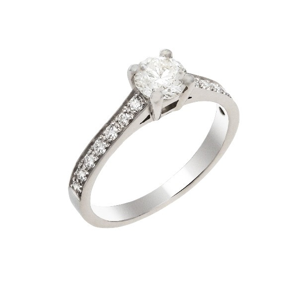 Bague  de fiançaille solitaire diamants