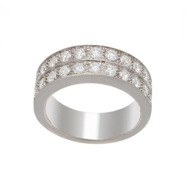 Bague 2 rangs, en or 18 carats diamants serie de 1,17 carat de diamants