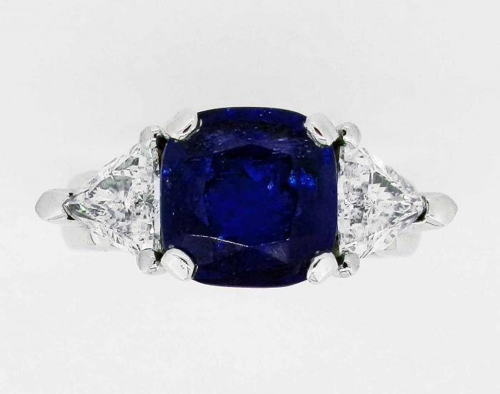 Bien connu Bague saphir et diamants - Bijouterie Joaillerie à Paris IL93