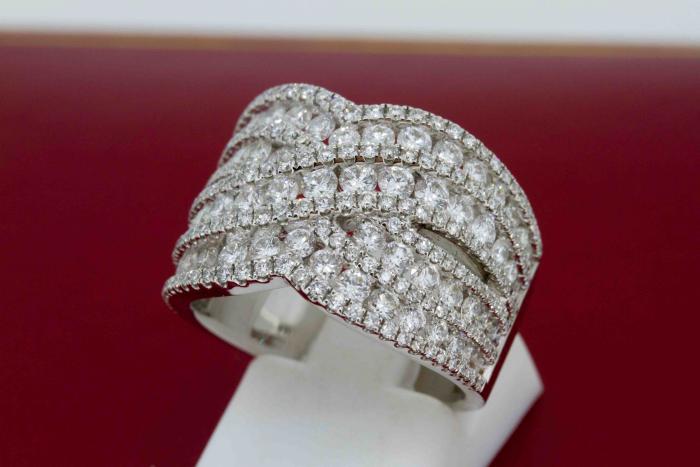 Bague vagues diamants