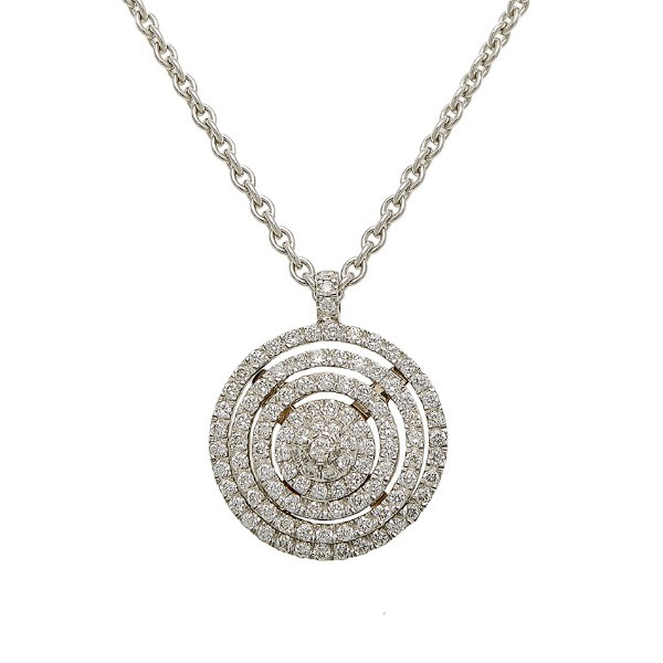 Pendentif tourbillon diamants