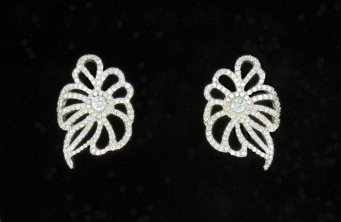 Boucles d'oreilles fleurs baroques
