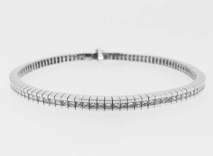 Bracelet rail diamants