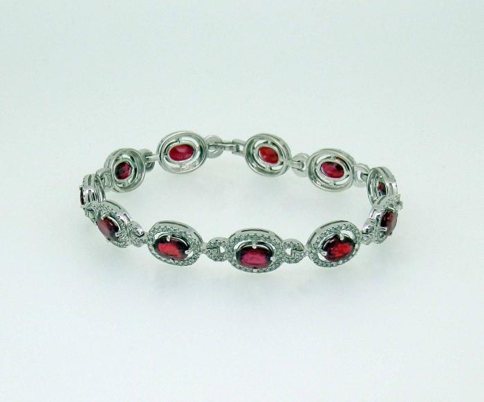 Bracelet rubis diamants