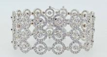 BRACELET MANCHETTE DIAMANTS