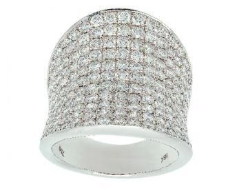 Bague concave pavage diamants