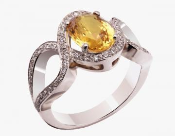 Bague or 18 carats sertie unvsaphir jaune pesant 3,00 carats