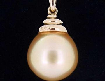 pendentif perle ovale gold