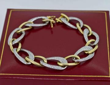 Bracelets mailles bicolores