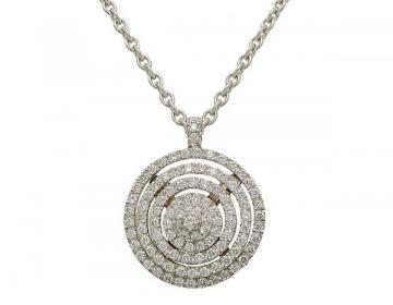 Pendentif tourbillon diamants