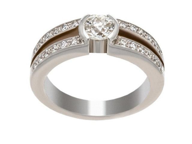 Bague solitaire diamants Or-Gemmes
