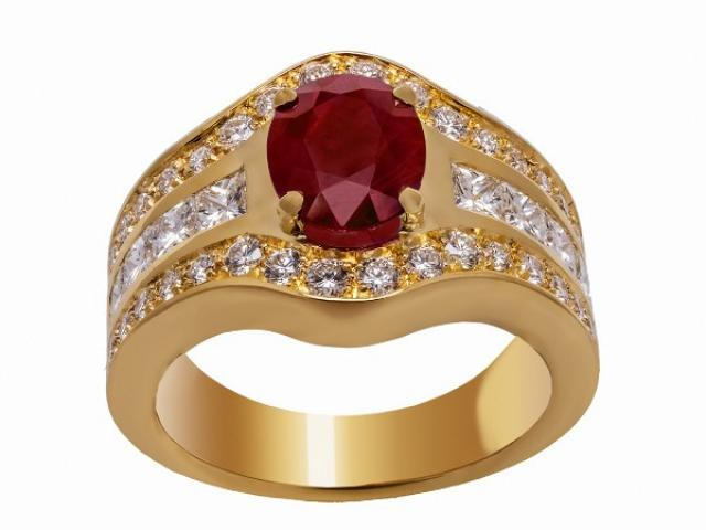 bague rubis et diamants Or-Gemmes