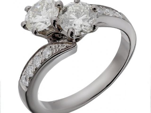 Bague toi et moi diamants Or-Gemmes