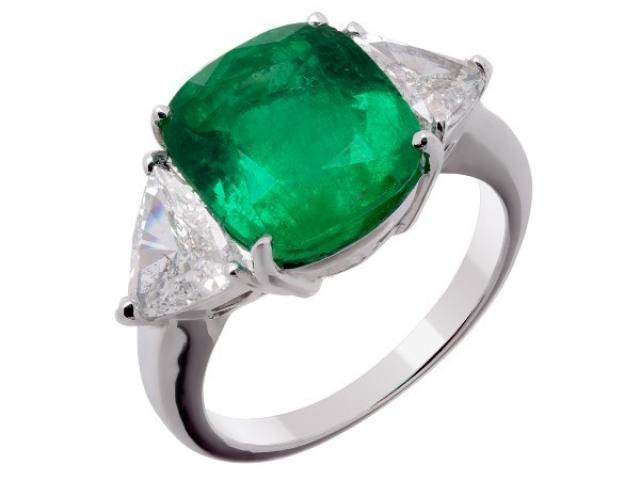 bague emeraude et diamants Or-Gemmes