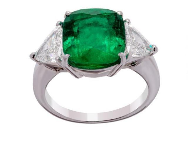bague emeraude et diamants or gemmes paris