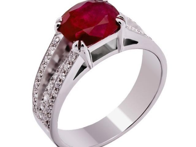 bague rubis et diamants or 18 carats Or-Gemmes