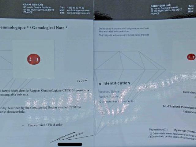 RUBIS 2.52 carats de BIRMANIE certifié CGL