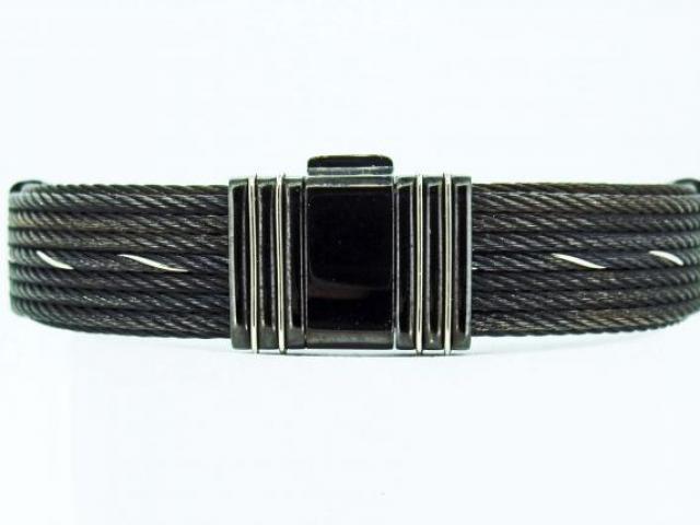 Bracelet en câble noir
