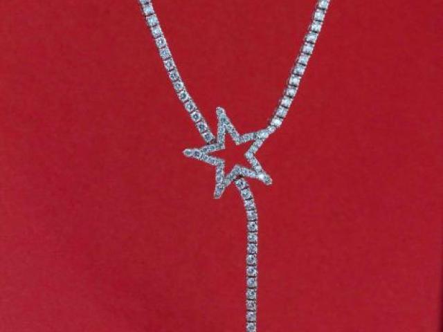 Collier étoile filante en diamants
