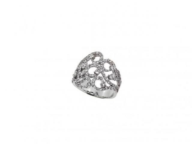 Bague dentelle diamants or-gemmes