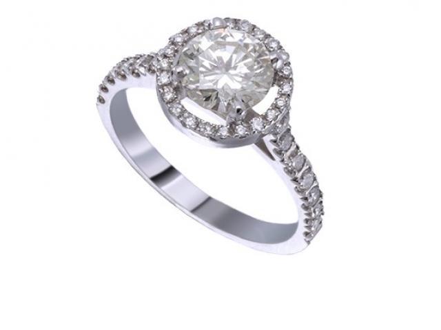 Bague de Fiançailles sertie de diamants