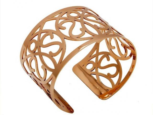 Bracelet manchette tout or rose 18 carats