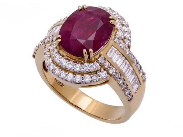 Bague rubis et diamants Or-Gemmes