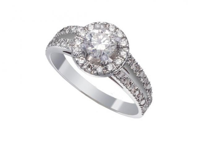 Bague entourage diamants Or-Gemmes