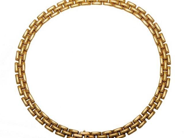 Collier en or massif or gemmes