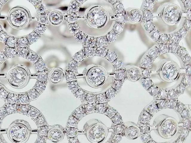 BRACELET MANCHETTE DIAMANTS