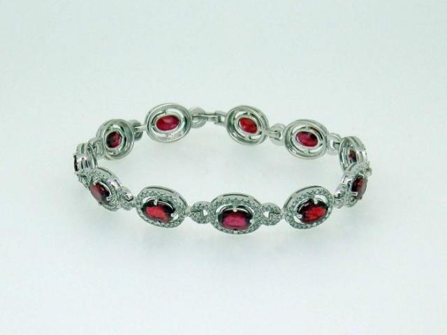 Bracelet rubis diamants
