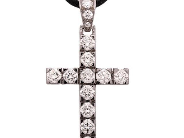 croix diamants Or-Gemmes