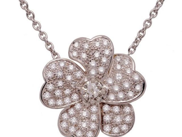 collier fleur diamants Or-Gemmes