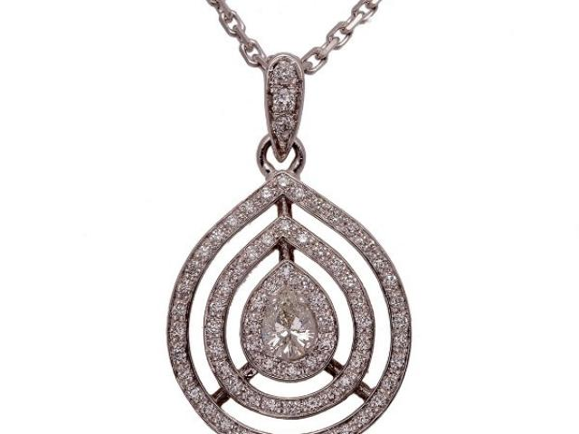 pendentif diamants poire Or-Gemmes