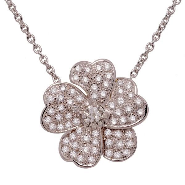 Collier fleur diamants